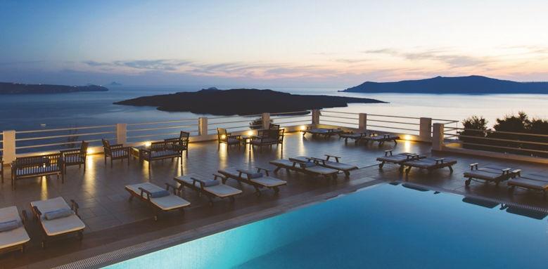 tzekos villas, pool evening