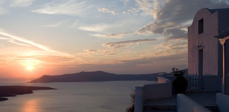 tzekos villas, sunset view