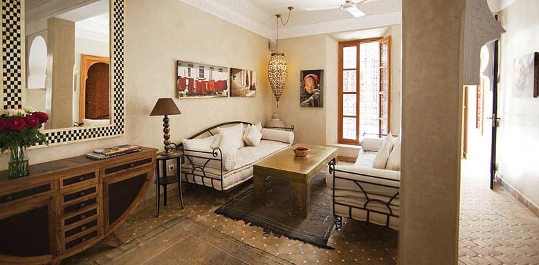 Riad Dar Justo, lounge interior