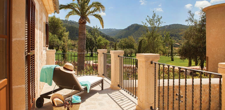 Castell Son Claret, deluxe room balcony
