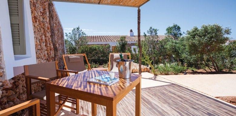 Torralbenc Menorca, garden cottage terrace