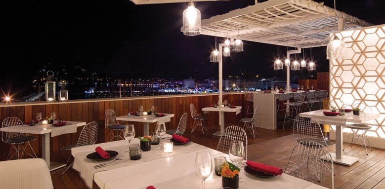 Aguas De Ibiza Lifestyle & Spa, restaurant at night