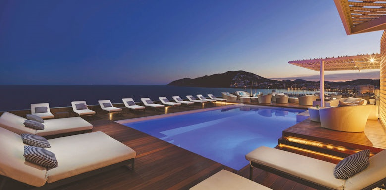 Aguas de Ibiza, pool terrace night