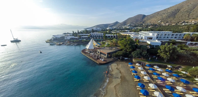 Crete, elounda bay palace, panoramic view