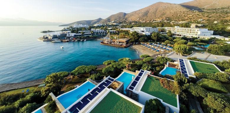 Crete, elounda bay palace, panoramic view