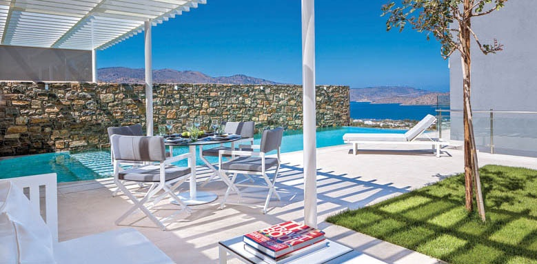 Elounda Gulf Villas & Suites, massage pool terrace