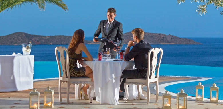 Elounda Gulf Villas & Suites, poolside dinner
