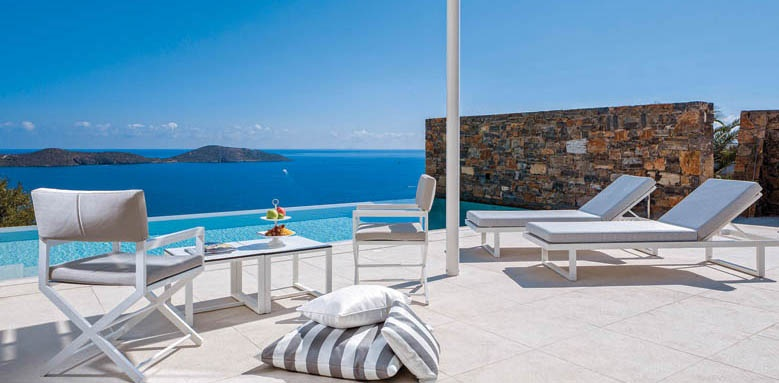 Elounda Gulf Villas & Suites, massage suite pool