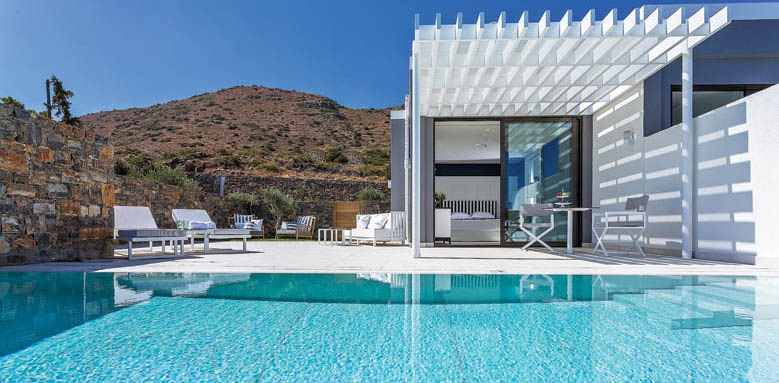 Elounda Gulf Villas & Suites, massage suite outdoor pool