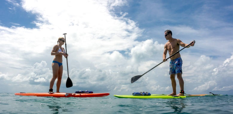 Grotto Bay, paddleboarding