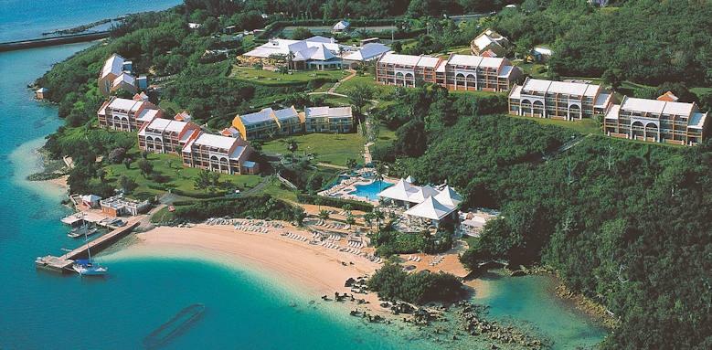 Bermuda, grotto bay beach resort aerial