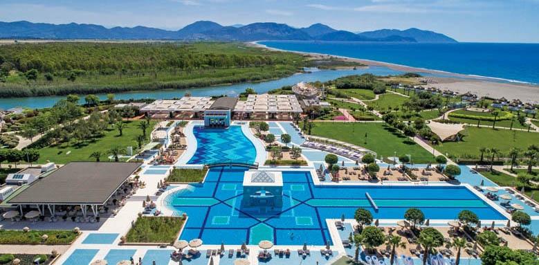Hilton Dalaman, pool aerial view