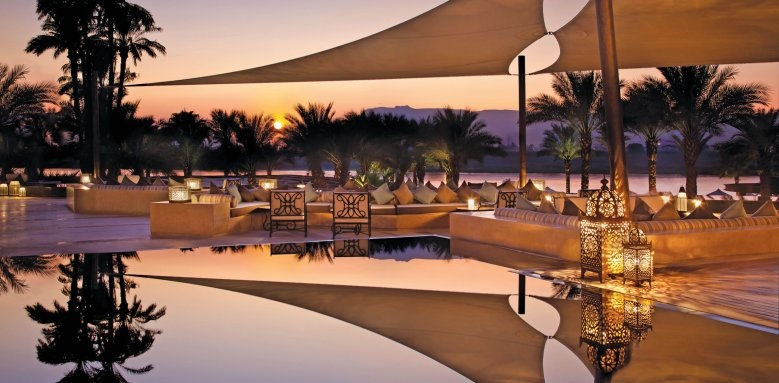 Hilton Luxor Resort & Spa, sunset terrace