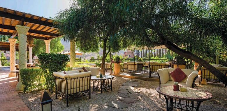 Kasbah tamadot, terrace