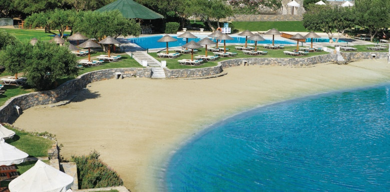 Porto Elounda Golf & Spa Resort, private beach