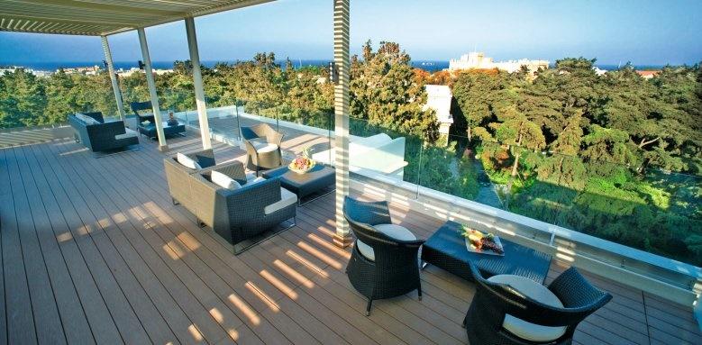 Rodos Park Suites & Spa, roof terrace