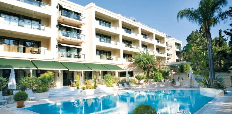 Rodos Park Suites & Spa, exterior and pool