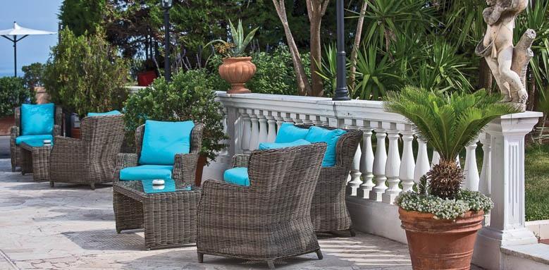 Villa Garden Hotel, garden terrace