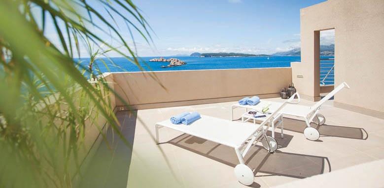 Hotel Dubrovnik Palace, executive suite terrace