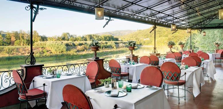 Villa La Massa, il verrocchio restaurant terrace