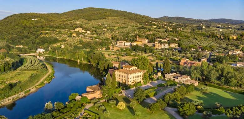 Villa La Massa, view of hotel