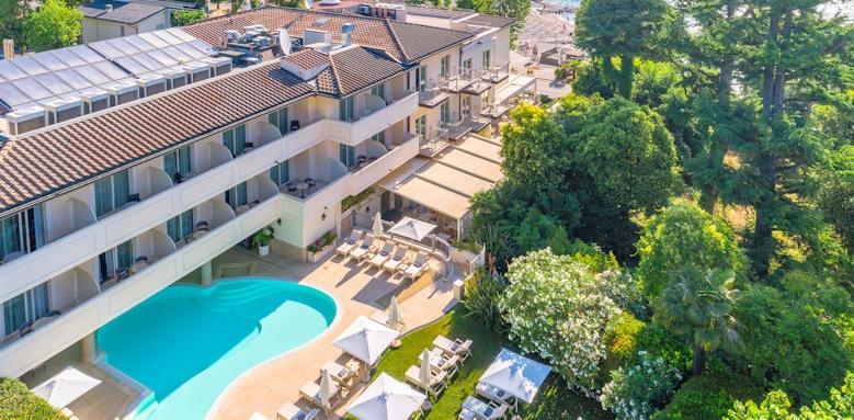 Villarosa hotel, aerial pool view