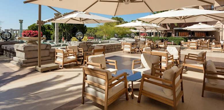 xanadu resort, lobby terrace