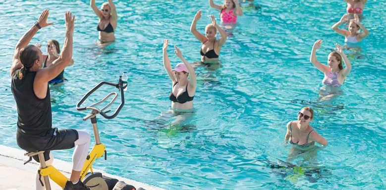 xanadu resort, aqua aerobics