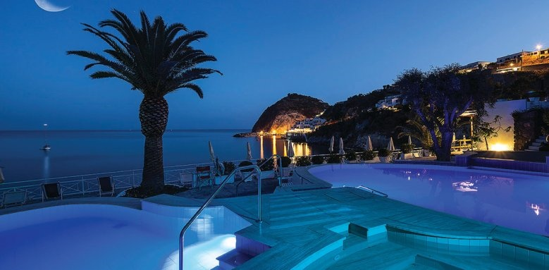Miramare Sea Resort & Spa, pool by night