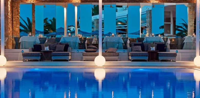 Myconian Ambassador Hotel & Thalasso Centre, pool and seating