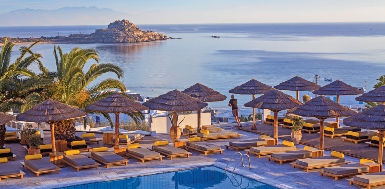 Myconian Ambassador Hotel & Thalasso Centre, view and pool