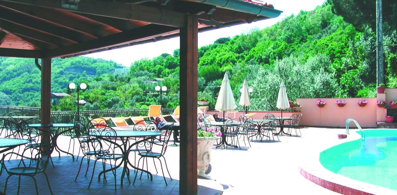 Hotel La Vue D'or, pool terrace