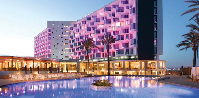 Hard Rock Hotel Ibiza, exterior by night