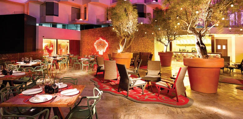 Hard Rock Hotel Ibiza, restaurant exterior