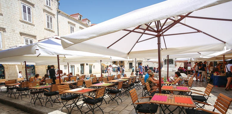 The Pucic Palace, restaurant terrace