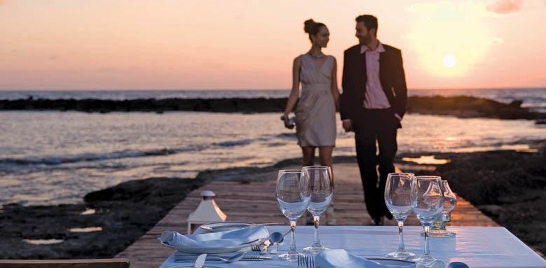 Grand Hotel Miramare, private beach dining