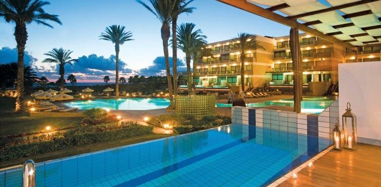 Constantinou Bros Asimina Suites Hotel, pool at night