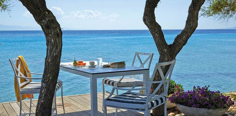 Afitis Hotel, brunch by the sea