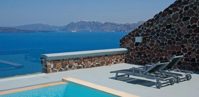 Ambassador Santorini, infinity cave suite pool