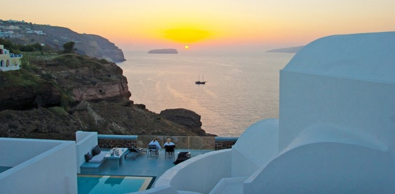 Ambassador Santorini, sunset view