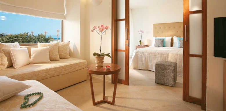 Grecotel Amirandes, Family Suite with sea view