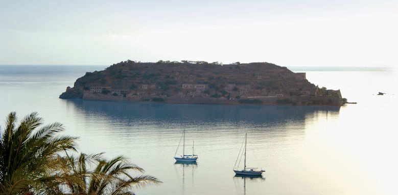 blue palace, view of spinalonga