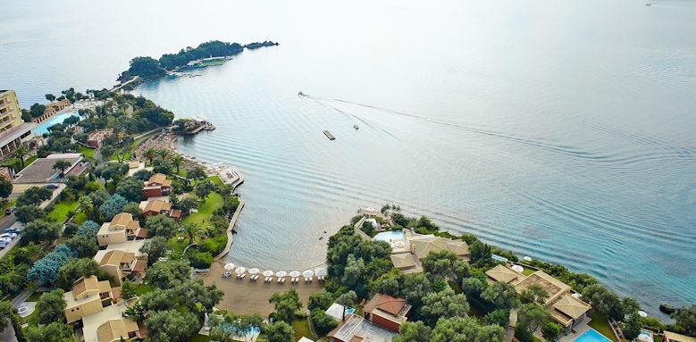 Grecotel Imperial Corfu, birdseye view