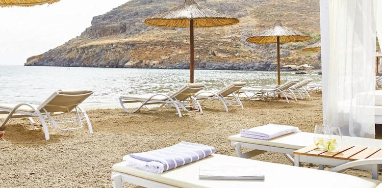 lindos, beach