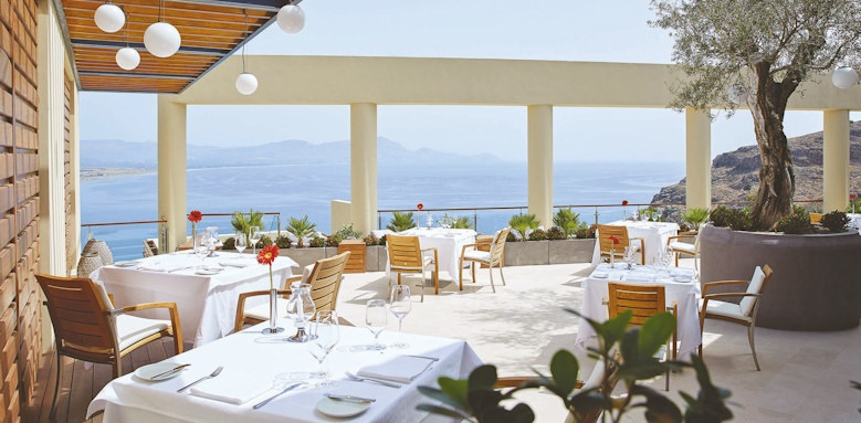 lindos, five senses restaurant