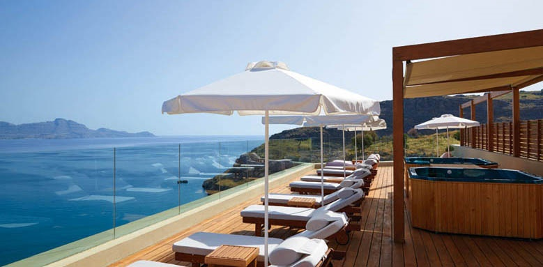 Lindos Blu Hotel & Suites, Terrace