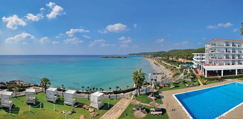 Sol Menorca, pool and view