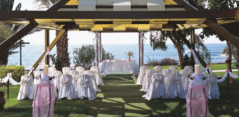 Constantinou Bros Athena Beach Hotel, outdoor wedding setup