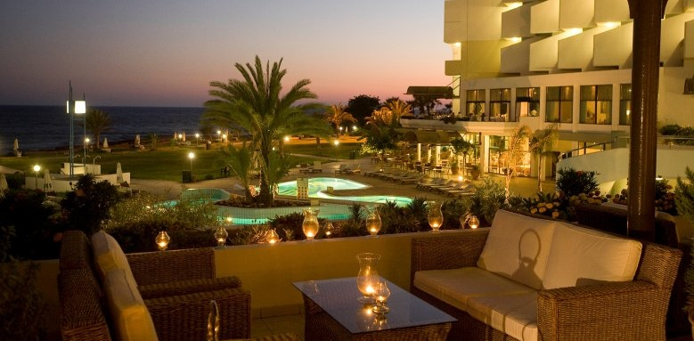 Constantinou Bros Athena Royal Beach Hotel, night verandah