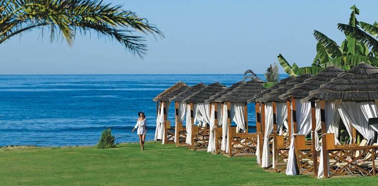 Athena Beach, beach cabanas
